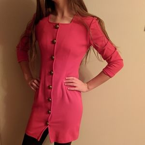 Vintage 90s All That Jazz red mini dress